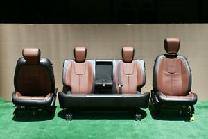 14 17 Terrain Equinox 8 Way Power Front Seat Bench Back Seat Set Leather Oem