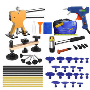 Hail Damage Repair Pops A Dent Puller Paintless Dent Remover Tools Kit F6 Body