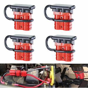 4pcs 50a Battery Quick Connect Disconnect Kit Wire Harness Plug For Car Winch