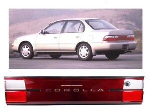 For 93 97 Toyota Corolla 1993 1997 Tail Lights Ae100 Ae102 Rear Trunk Piece