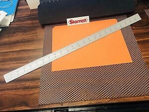 Starrett No c604r 24 24 Inch Long Spring tempered Steel Rule With 4r Graduations