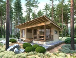 Log House Kit lh 050 9 Eco Friendly Wood Prefab Diy Building Cabin Home Modular