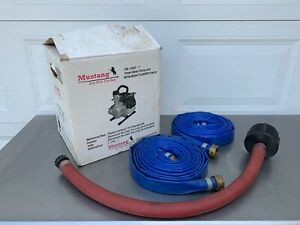 1 Inch Gas Powered Portable Mustang Fresh Water Pump With Hoses Original Box