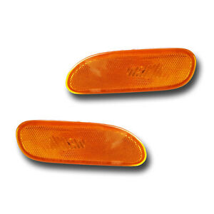 Fits 95 99 Mitsubishi Eclipse Left Right Side Marker Light Assembly 1 Pair