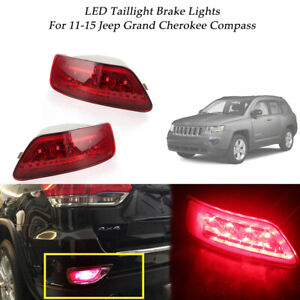 Rear Bumper Foglight Tail Brake Led Lights For 11 15 Jeep Grand Cherokee Compass