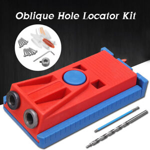 Pocket Hole Jig System Slant hole Step Bit Woodwork Joinery Kit Carpentry