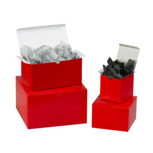 Packaging Supplies Fibreboard Holiday Red Gift Boxes Made In Usa