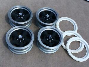 Nos Keystone Kustomflite Vintage Mag Wheel Set Of 4 14x6 5x5 Pattern Chevy Ford