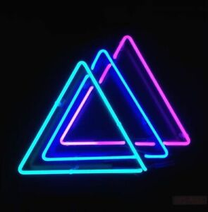 New Triangles Neon Light Sign Lamp Beer Pub Acrylic 14
