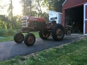 1963 Farmall Cub Tractor With Multiple Rare Quick hitch Implements Included