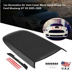 Car Air Vent Cover Hood Scoop Fit For Ford Mustang Gt V8 2005 2009 Black Us