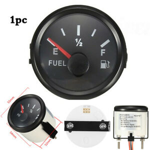 2 Inch 52mm Car Boat Universal Fuel Level Gauge Meter 240 33 12 24v Us Stock