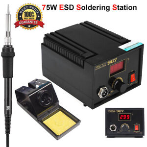 75w Digital Soldering Station Esd Lcd Rework Electric Solder Iron Desoldering