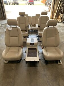 2007 5 2014 Escalade Esv Yukon Xl Denali Complete Seats Tan Leather 171473
