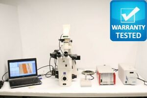 Zeiss Axiovert 200m Inverted Fluorescence Motorized Phase Contrast Microscope 4