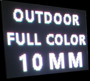 Led Sign P10 Full Color Indoor outdoor Wifi Led 2 Sides 25 1 X 37 75