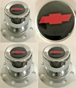 4 Derby Center Caps 8 Lugs Lug Truck 4 82 4 9 For Chevy Wheels B4 1986 Bow Tie