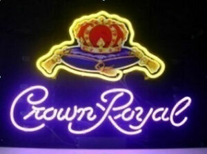New Crown Royal Whiskey Neon Light Sign 17 x14 Beer Cave Gift Lamp Bar