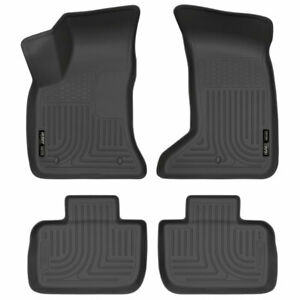 Husky Weatherbeater 1st 2nd Row Floor Mat Blk For Chrysler 300 charger 11 20 4wd