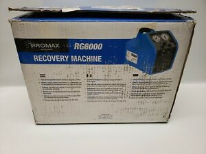 Promax Rg6000 Recovery Pump New In Box