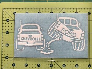 Ford Piss On Chevy Truck Vinyl Decal Diecut Sticker Vehicle Toolbox Window 226