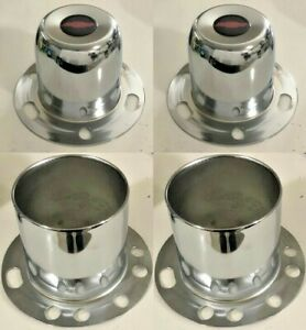 4 Derby Wheel Center Caps 4 25 Br 4wd For 6 Lug Chevy Truck 4x4 Open Closed End
