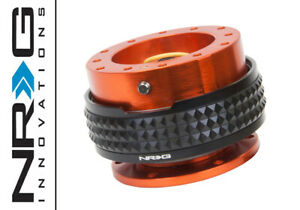 Nrg Steering Wheel Quick Release 2 1 Orange Body Black Pyramid Ring