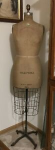 Antique Victorian Palmenburg Cavanaugh Dress Form Mannequin 8 height Adjustable