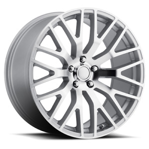 19x9 5 53 Mustang Performance Replica Silver Mach Face Wheel Rim 5x114 3 Qty 4