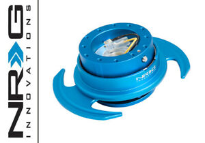Nrg Steering Wheel Quick Release Blue Body Blue Ring W Handles