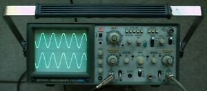 Hitachi V 523 50mhz Two Channel Oscilloscope With 2 Probes Power Cord