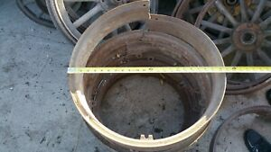 No 2 Wheels Rims Wooden 1910 S 1920 S Model T Chevy Buick Truck White Dodge