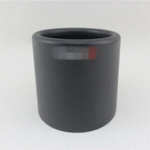 101mm Real Carbon Fiber Matte Car Exhaust Pipe Tip Muffler Cover Accessories
