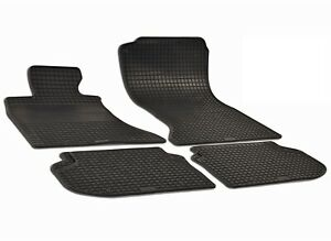 New Set Of 4 Black Rubber All Weather Floor Mats Oe Fit For Bmw F10 528i 535i M5