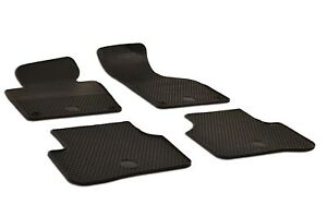 Set Of 4 Black Rubber All Weather Floor Mats Oe Fit For Vw Passat 2005 2010