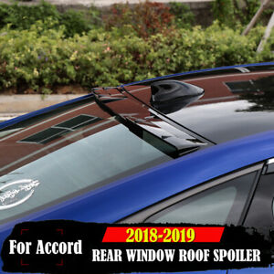 For 2018 2020 Accord 10th Gen Sedan Vip Glossy Black Rear Window Roof Spoiler