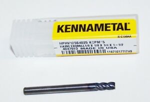 1 8 125 Kennametal 4 Flute Harvi End Mill High Performance Hphv125s4025