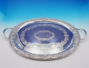 Repousse By Kirk Sterling Silver Tea Tray Heavy 125 5 Ozt 124af 3424