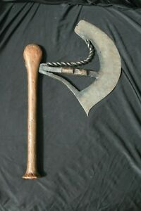 Old African Tribal Knife Axe Songye Congo 19th Century