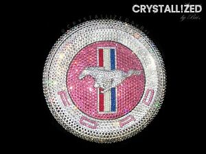 Crystallized Emblem For Ford Mustang Rear Decklid Bling W Swarovski Crystals