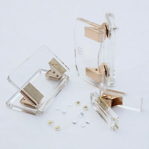 Acrylic Gold Clear Paper Hole Punch Desktop Stationery Accessories Series