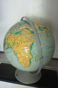 1996 Nystrom Sculptural Relief 16 Inch World Globe School Edition Map 39 47