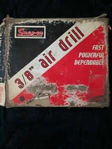 Snap On Box Vintage Air Drill Box Garage Shop Decor No Drill As Is