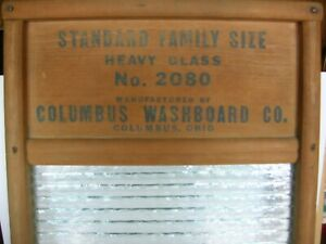 Vintage Crystal Cascade Washboard 2080 Family Size Columbus Washboard Co