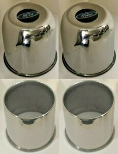 4 Stainless Steel Wheel Center Caps 4 25 4wd For 5 Lug Ford Truck 4x4 Open Clos