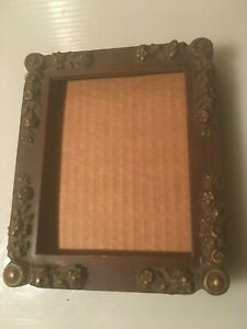 Vintage Wood Ornate Carved Gold Gilt Picture Frame 5 X 6 Wall Hang Or Stand