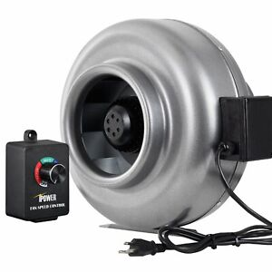 Ipower 8 Inch 750cfm Duct Inline Fan Hvac Exhaust Blower Speed Controller