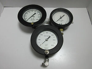 3 Large Gauges Ashcroft mastergauge Usg Steampunk
