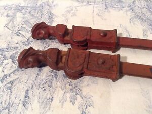 Vintage French Cast Iron Window Shutter Dogs Latches