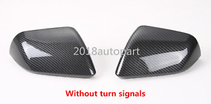 Carbon Fiber Style Side Rearview Mirror Cover Trim For Ford Mustang 2015 2019